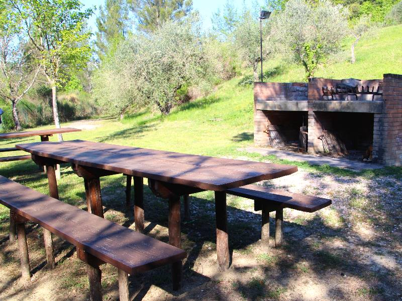 Barbecue nel verde dell'Umbria